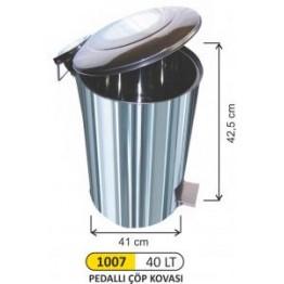 Endüstriyel Pedallı çöp Kovası 40 Litre