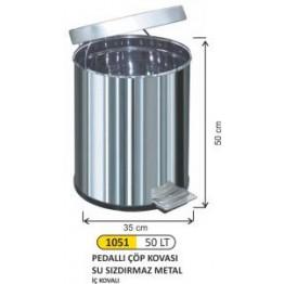 Pedallı Çöp Kovası 50 litre Su Sızdırmaz İç Kovalı