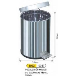 Pedallı Çöp Kovası 60 litre Su Sızdırmaz İç Kovalı
