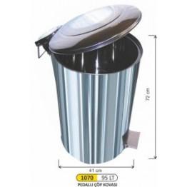Endüstriyel Pedallı Çöp Kovası 95 Litre