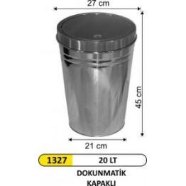 Dokunmatik Kapaklı Konik Çöp Kovası 20 Lt