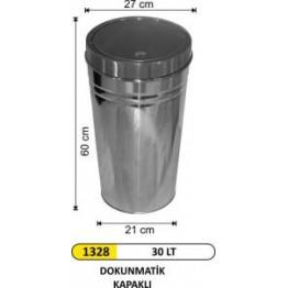 Dokunmatik Kapaklı Konik Çöp Kovası 30 Lt
