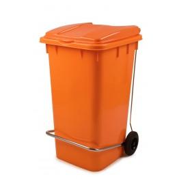 Endüstriyel Çöp Kovası Pedallı 240 LT. Turuncu