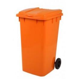 Endüstriyel Çöp Kovası 240 LT. Turuncu