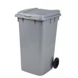 Endüstriyel Çöp Kovası 240 LT. Gri