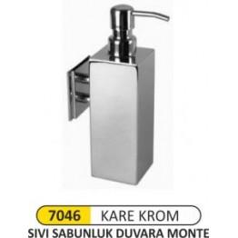 Krom Sıvı Sabunluk Kare