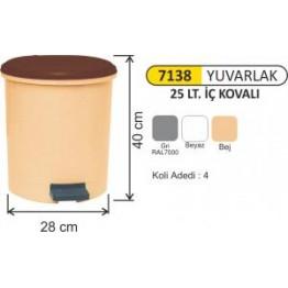 Pedallı Çöp Kovası Plastik 25 litre