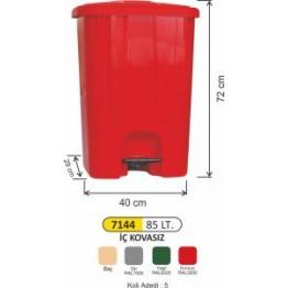 Pedallı Çöp Kovası Plastik Köşeli 85 litre