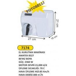Fotoselli el kurutma makinası amatek beyaz