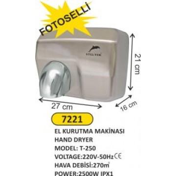 Fotoselli el kurutma makinası steltek