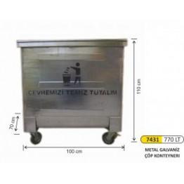 Metal Galvaniz Konteyner 770 Litre