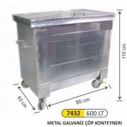 Metal Galvaniz Konteyner 600 Litre