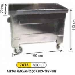 Metal Galvaniz Konteyner 400 Litre