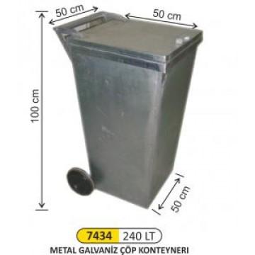 Metal Galvaniz Konteyner 240 Litre