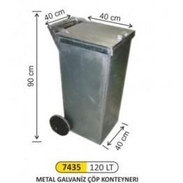 Metal Galvaniz Konteyner 120 Litre