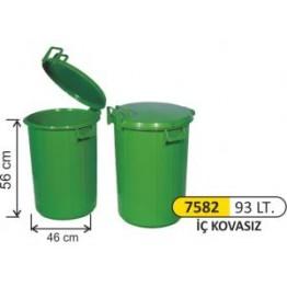 Plastik Çöp Kovası 93 Litre