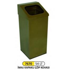 İmaj Kapaklı Çöp Kovası 54 Lt