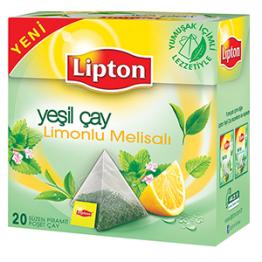 Lipton Limonlu Melisalı Piramit Poşet Yeşil Çay