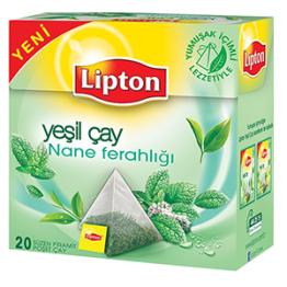 Lipton Nane Ferahlığı Piramit Poşet Yeşil Çay