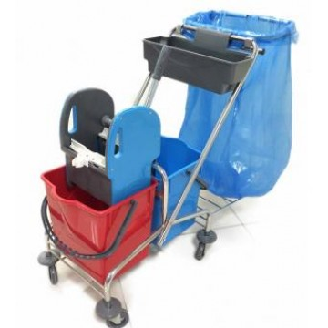 Mimoza Çift Kovalı Temizlik Seti 2x18 LT Çöp Toplamalı