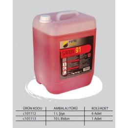 Çok Amaçlı Asidik Banyo, Wc Temizleme Ürünü – Kanguru Sistem Yüksek Konsantre - SANOX 91 -10 L