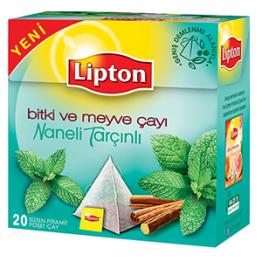 Lipton Naneli Tarçınlı Piramit Poşet Çay