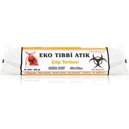 Eko Tıbbi Atık Çöp Torba -Orta Boy (55X60) 300 gr 50 micron
