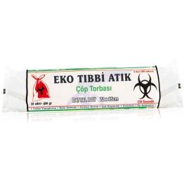 Eko Tıbbi Atık Çöp Torba - Battal Boy (80X110) 400 gr 65 micron